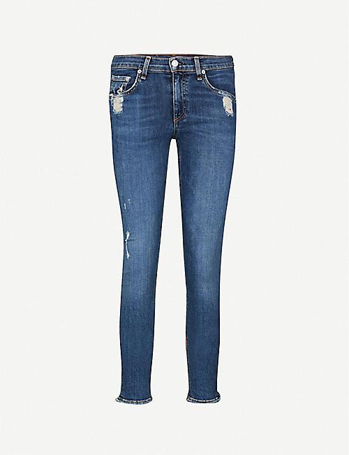 73c180fc51fa9 RAG   BONE Ripped skinny mid-rise jeans