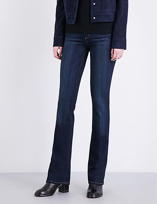 PAIGE Manhattan slim-fit bootcut mid-rise jeans