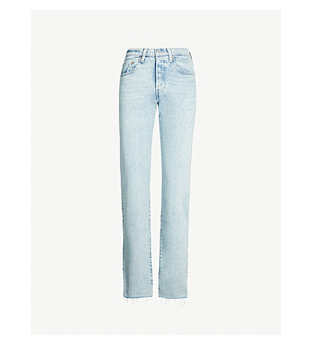 74c37ecf2c LEVIS MADE   CRAFTED 501 straight high-rise jeans (Blue+gulf