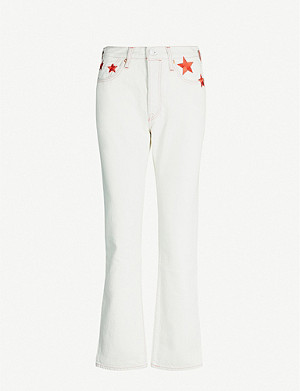 LEVIS MADE & CRAFTED 501 embroidered denim jeans