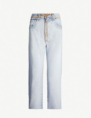 LEVIS MADE & CRAFTED Barrel straight high-rise jeans