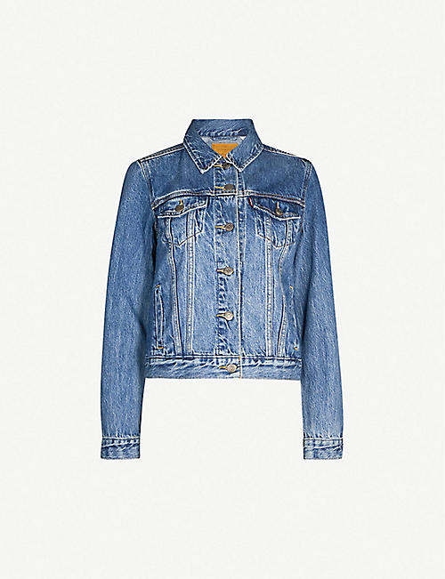 LEVIS: Original Trucker faded denim jacket