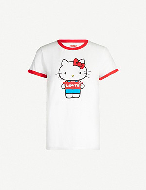 LEVI'S Levi's x Hello Kitty Perfect branded cotton-jersey T-shirt