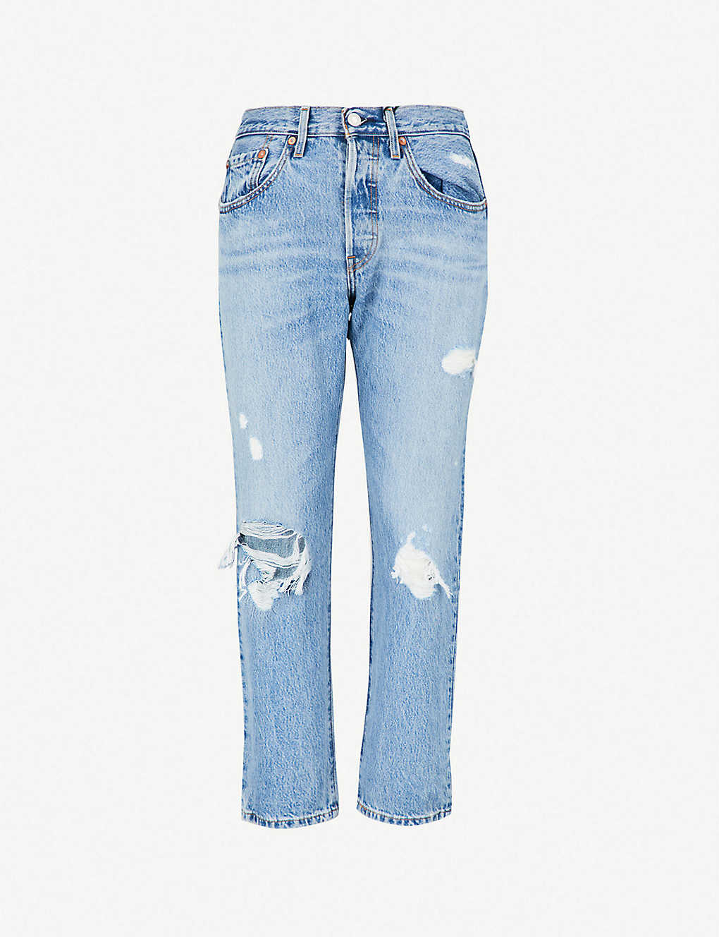 2d57a8bfae4 LEVI S - 501 high-rise straight cropped jeans