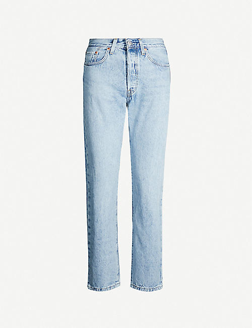 LEVI'S 501 cropped straight high-rise jeans