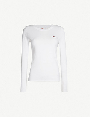 LEVI'S Baby logo-embroidered cotton-jersey top