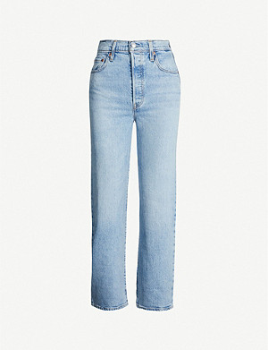 LEVI'S Ribcage cropped straight high-rise jeans
