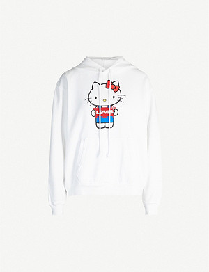 LEVI'S Levi's x Hello Kitty Unbasic branded cotton-jersey hoody