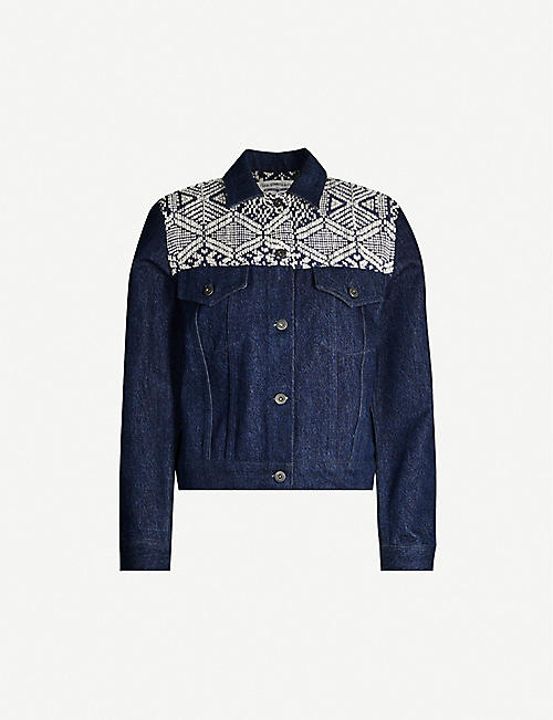 LEVIS MADE & CRAFTED French Fringe embroidered denim jacket