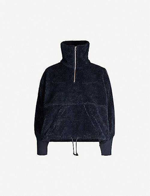 LEVIS MADE & CRAFTED Half-zip faux-shearling sweatshirt