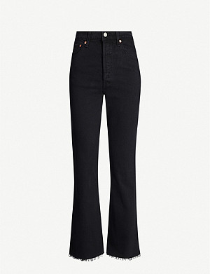 LEVI'S Flared high-rise jeans