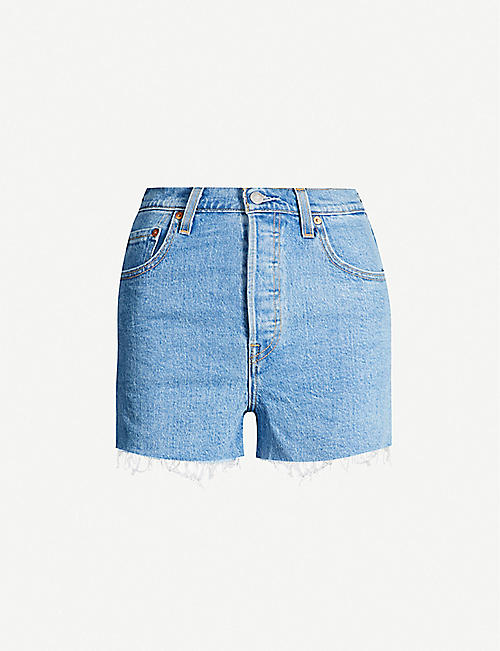 LEVIS Ribcage high-rise denim shorts