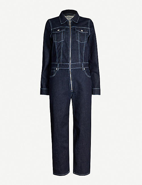 LEVIS MADE & CRAFTED Zip-up stretch-denim jumpsuit