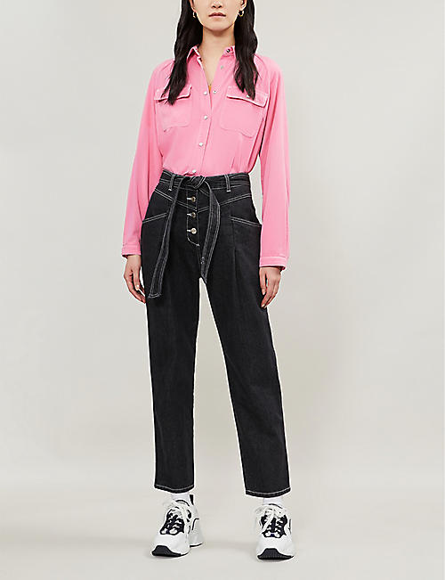 SJYP Self-tie straight high-rise jeans