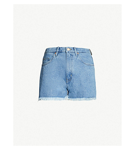 b725039a10 MIH JEANS - Halsy frayed-hem high-rise denim shorts | Selfridges.com