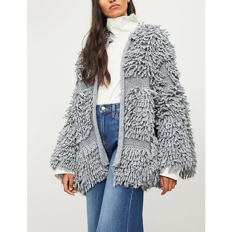 Mih Jeans Jesper Loop Knit Cardigan - Grey