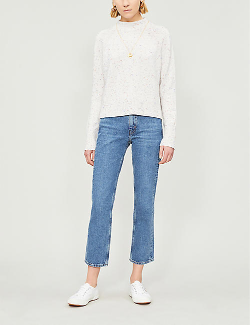 69b938deea3 MIH JEANS Daily cropped straight high-rise jeans