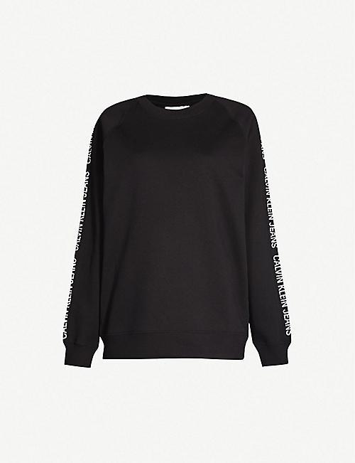 32cb533841715 CALVIN KLEIN Logo-print cotton-jersey sweatshirt