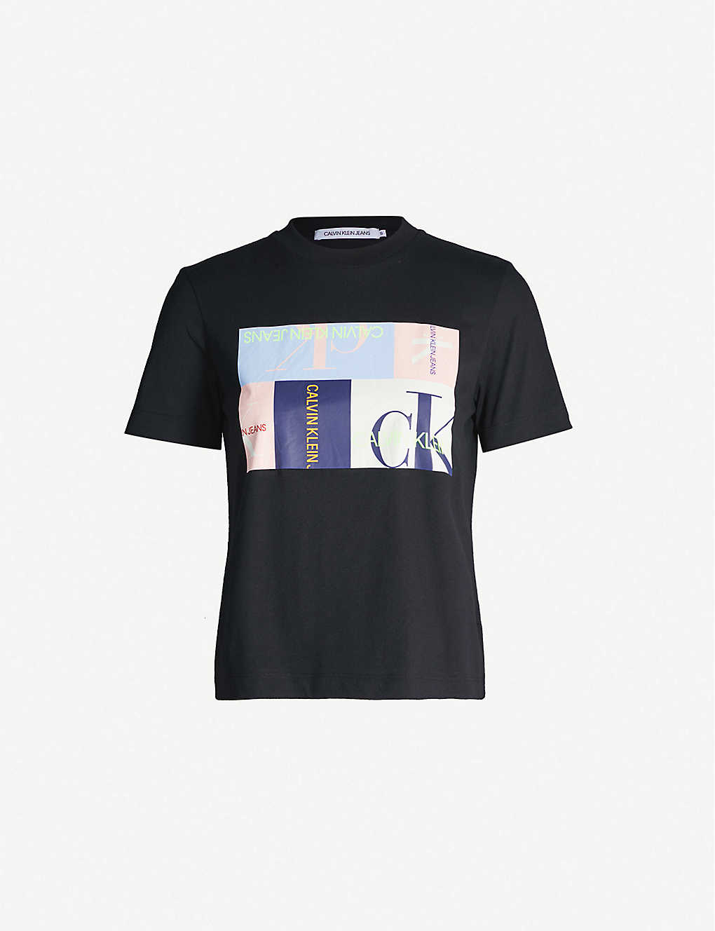 bbb9ebf1c0dc CALVIN KLEIN - Graphic-print round-neck cotton T-shirt | Selfridges.com