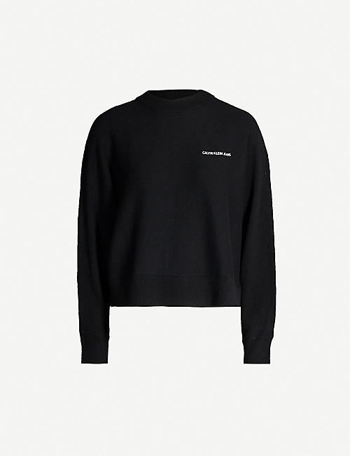 CALVIN KLEIN Branded knitted jumper