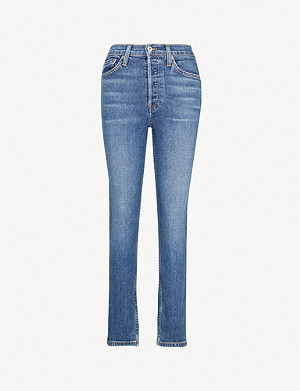 RE/DONE Straight high-rise jeans