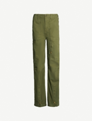 RE/DONE High-rise cotton straight-leg trousers