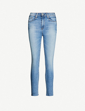RAG & BONE Faded mid-rise super-skinny jeans