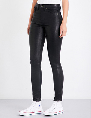 RAG & BONE Skinny leather trousers