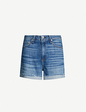 4486a212 E.L.V. DENIM - The Twin high-rise denim shorts | Selfridges.com