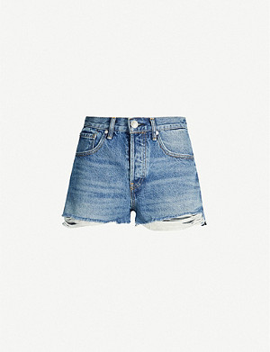 RAG & BONE Maya ripped high-rise shorts