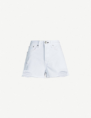 RAG & BONE Maya ripped high-rise denim shorts