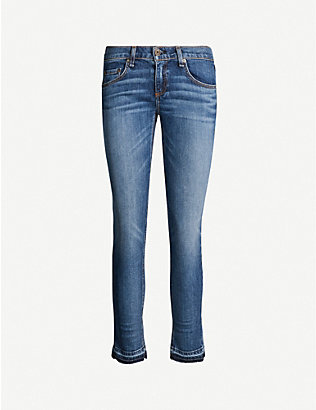 RAG & BONE: Dre low-rise cropped skinny jeans
