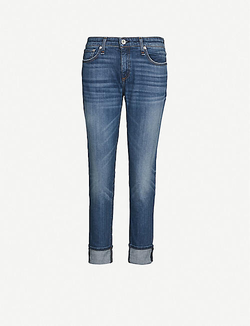 RAG & BONE Dre slim-fit low-rise boyfriend jeans