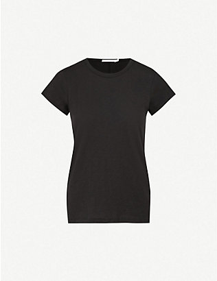RAG & BONE: Round neck cotton-jersey T-shirt