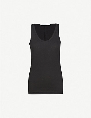 RAG & BONE: Scoop neck cotton-jersey top