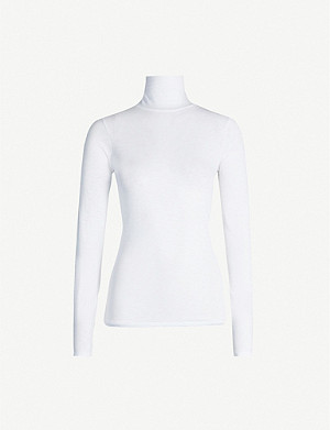 RAG & BONE Turtleneck marled cotton-jersey top
