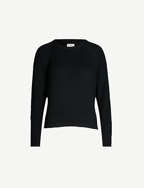 96b2ae2719953a RAG   BONE Ribbed cotton-jersey sweatshirt