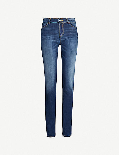 fdbb2ab781c5 EMPORIO ARMANI Faded high-rise skinny jeans