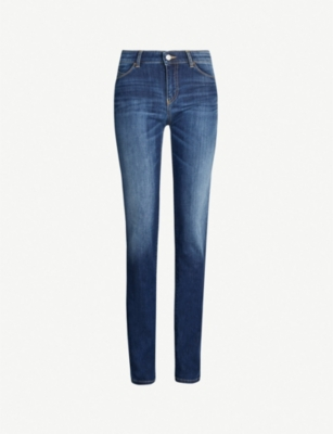 EMPORIO ARMANI Faded high-rise skinny jeans