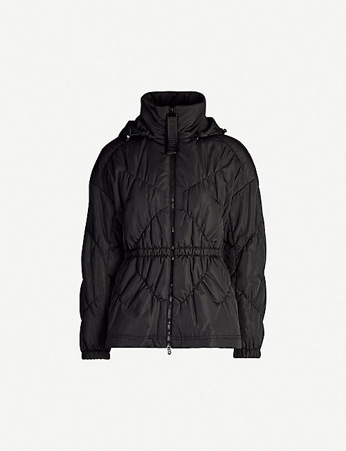 EMPORIO ARMANI Slim-fit detachable-hood shell coat