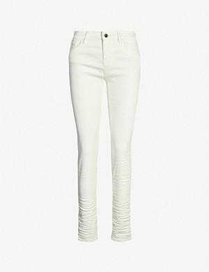 61cb883858 EMPORIO ARMANI - High-waisted stretch-denim skinny jeans ...