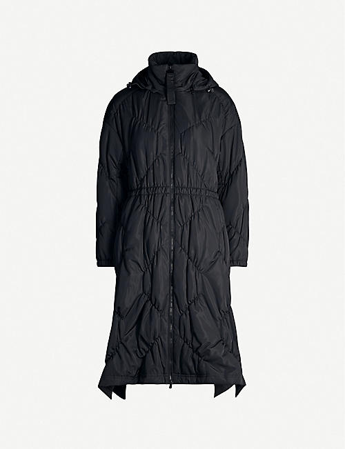 EMPORIO ARMANI Quilted shell coat