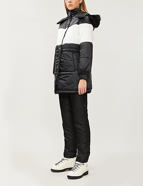 EMPORIO ARMANI Faux-fur-lined shell-down jacket