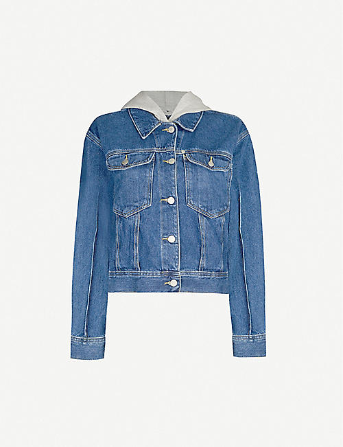 ARMANI EXCHANGE Hooded denim jacket
