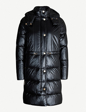 ARMANI EXCHANGE Caban shiny shell puffer coat