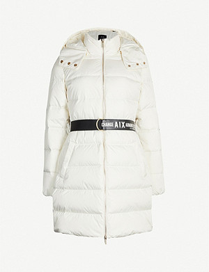 ARMANI EXCHANGE Hooded shell-down coat