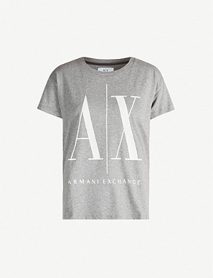 ARMANI EXCHANGE Logo-printed cotton-jersey T-shirt