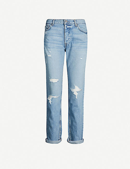GRLFRND Olivia ripped straight high-rise jeans