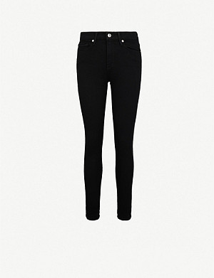 GOOD AMERICAN Good Legs Crop skinny high-rise jeans