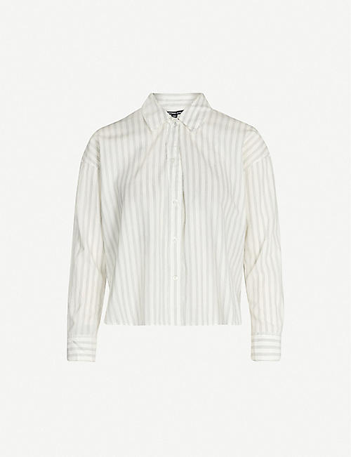 JAMES PERSE Striped relaxed-fit cotton-blend shirt